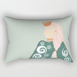 The Badass Queen Rectangular Pillow