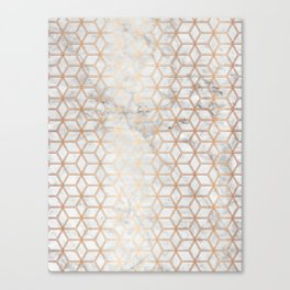 Hive Mind Marble Rose Gold #789 Canvas Print
