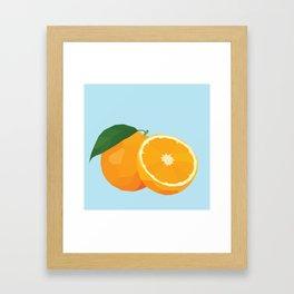Geo Orange Framed Art Print