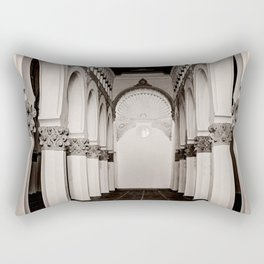 The Historic Arches in the Synagogue of Santa María la Blanca, Toledo Spain (4) Rectangular Pillow