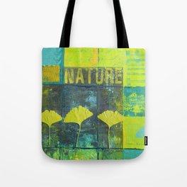Green nature greenery gingko leaf collge Tote Bag