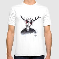 Antlers // Fashion Illustration Mens Fitted Tee White MEDIUM