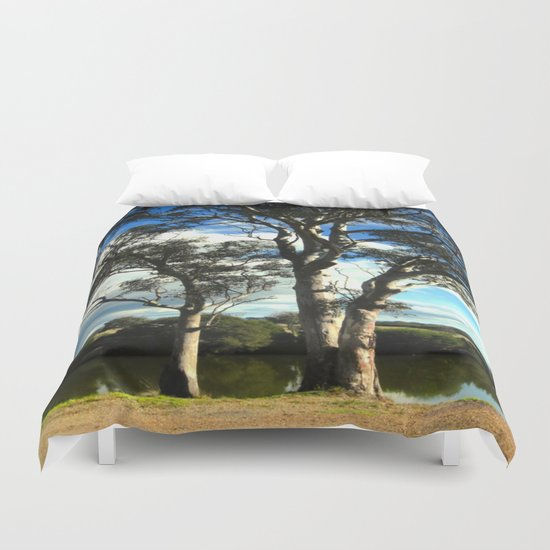 White Gum Trees Duvet Cover