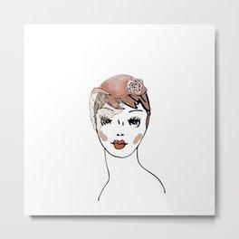 Whimsie Hat Metal Print