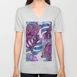 Monstera Leaf Art Unisex V-Neck