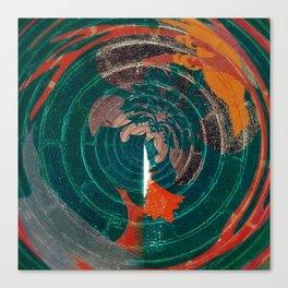 Spin Art Dark Canvas Print