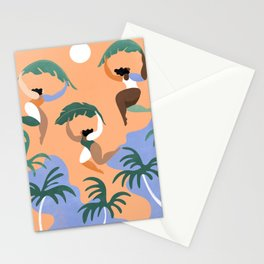 And so, a new beginning (sunset) Stationery Cards