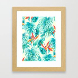 Tropical Paradise Pale Yellow Framed Art Print