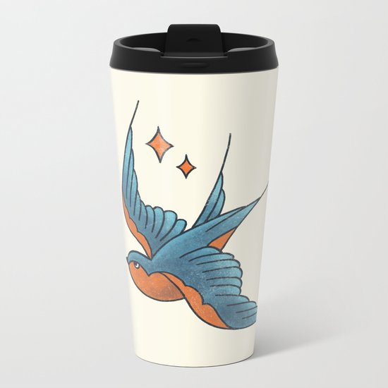Swallow Flash  Metal Travel Mug