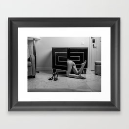 Kitty Looking for a Mouse Framed Art Print