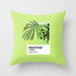 PANTONE SERIES – LEAFY GREEN Throw Pillow