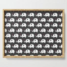 Elephants in love Serving Tray