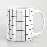 grid Mugs featuring GRID by Anna Lindner