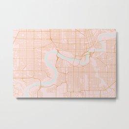 Edmonton map, Canada Metal Print