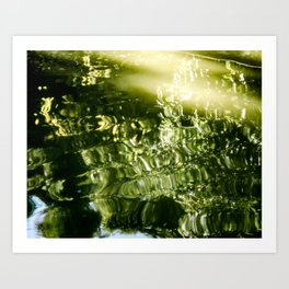 Reflecting Greens Art Print