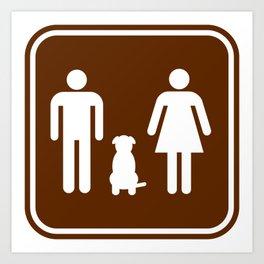 "Urban Picotgrams ""Dog Family"" Art Print"
