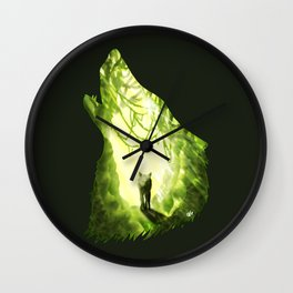 Wolf's Forest Wall Clock