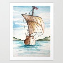 Schooner Art Print