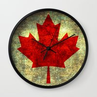 canada Wall Clocks featuring Oh Canada! by Bruce Stanfield