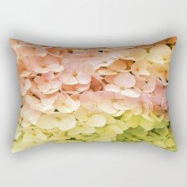 Delicate Pastel Multicolor Hydrangea Rectangular Pillow