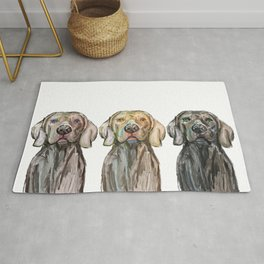 Triple Hunting Dogs Rug