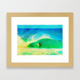 Riding the Wave Framed Art Print