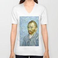 van gogh V-neck T-shirts featuring Vincent van Gogh by Premium