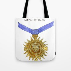 The Congressional Medal of Pizza Tote Bag