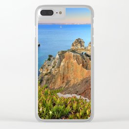 Praia Do Camilo At Sunset. Algarve. Portugal Clear iPhone Case
