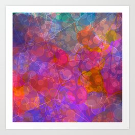 Colorful Untitled Abstract Art Print
