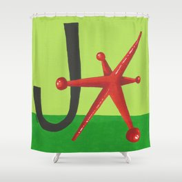 J is for Jack Shower Curtain