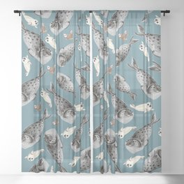 Common seal Sheer Curtain