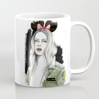 army Mugs featuring Army Girl by Camis Gray