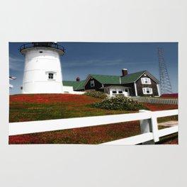 Nobska Lighthouse photography Rug