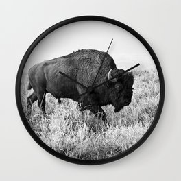 #bison Wall Clock