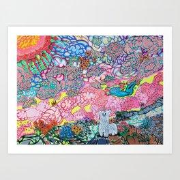 Land of Blue Art Print