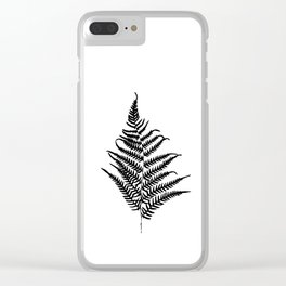 Fern silhouette. Isolated on white background Clear iPhone Case
