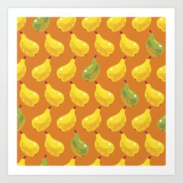 Decorative Pears Art Print