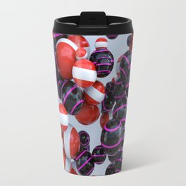 Orange & Purple black Travel Mug