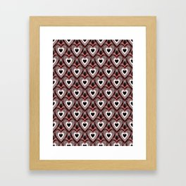 Matters Of The Heart - Happy Valentines Day Framed Art Print