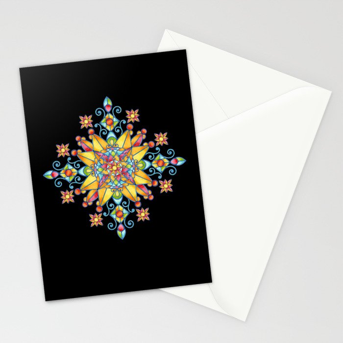 Alhambra Stained Glass Stationery Cards