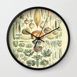 Vegetable Identification Chart Wall Clock