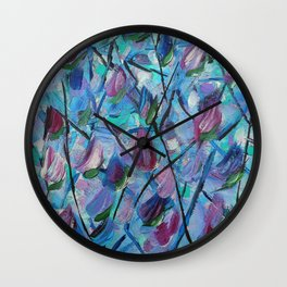 Abstract Tulips Wall Clock