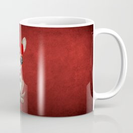Red Day of the Dead Sugar Skull Baby Kangaroo Coffee Mug