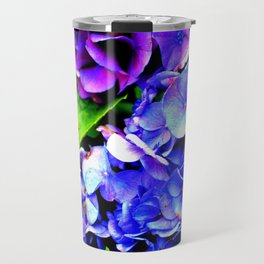 Hydrangeas Blue Purple Travel Mug
