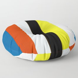 Ellsworth Kelly Red Yellow Blue White and Black Floor Pillow