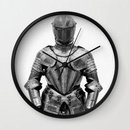 Knight's Silver Battle Armor Photograph (1580) Wall Clock