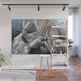 asc 677 - Les ailes du désir (The swain in disguise) Colored version Wall Mural