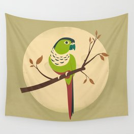 Green Cheek Conure Wall Tapestry