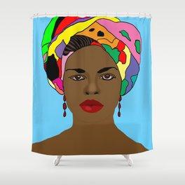 Colourful Head Scarf  Shower Curtain